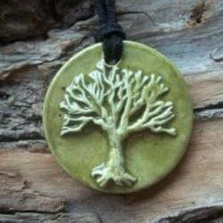 Tree of Life stoneware clay Necklace