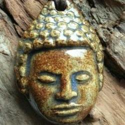 Buddha Necklace Handmade Stoneware clay